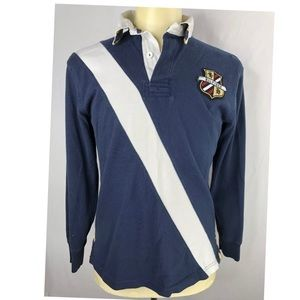 Tommy Hilfiger Mens Navy S/P Logo 8  Rugby Shirt